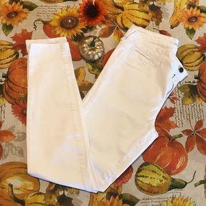 Skinny White Jeans Size 11
